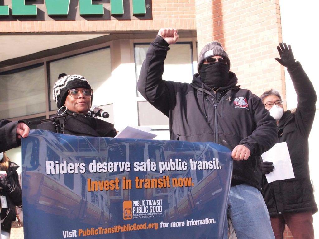 Transit activists protest MBTA service cuts